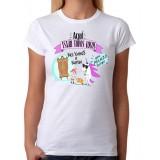 Camiseta mujer entallada Aqui están todos locos