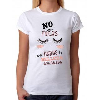 Camiseta Mujer No son Pecas son puntos de Belleza