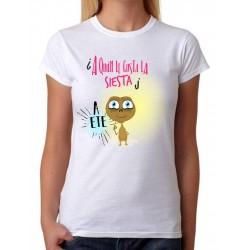 Camiseta Mujer A quién le gusta la siesta a ETE