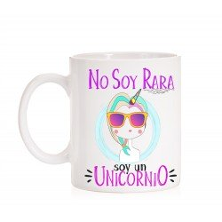 Taza No soy Rara. Unicornio