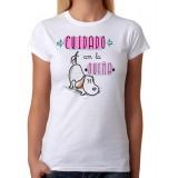 Camiseta Mujer Cuidado con la dueña