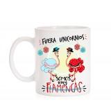 Taza Fuera Unicornios, somos muy flamencas