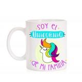 Taza Soy el Unicornio de mi Familia