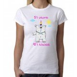 Camiseta 5 % Unicornio 95 % Achuchable