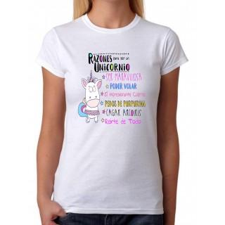 Camiseta Razones para ser un Unicornio