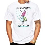 Camiseta hombre Lo importante es la actitud