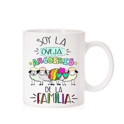 Taza Soy la oveja Arcoiris de mi Familia