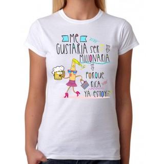 Camiseta Me gustaría ser millonaria
