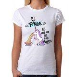 Camiseta mujer El finde se nos va de las manos